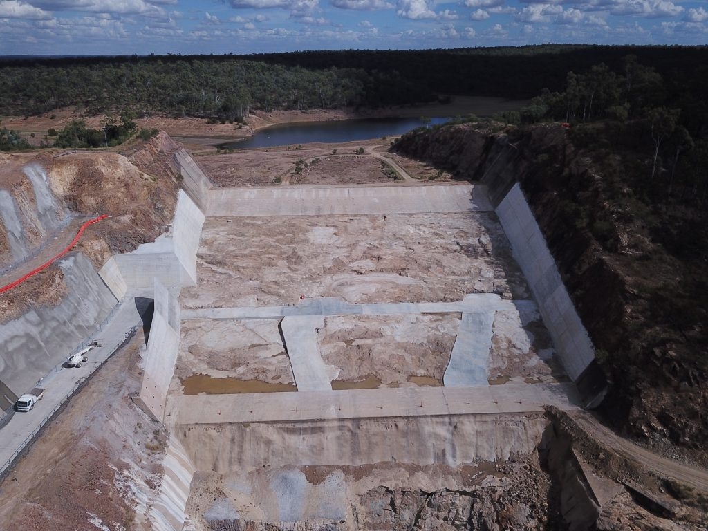 Niepe subcontracted to upgrade the Boondooma Dam including the removal of rock and application of anchors, Construction of a Spillway Defence System, FRP of Structural elements Concrete lining of Spillway walls and Pavement for access