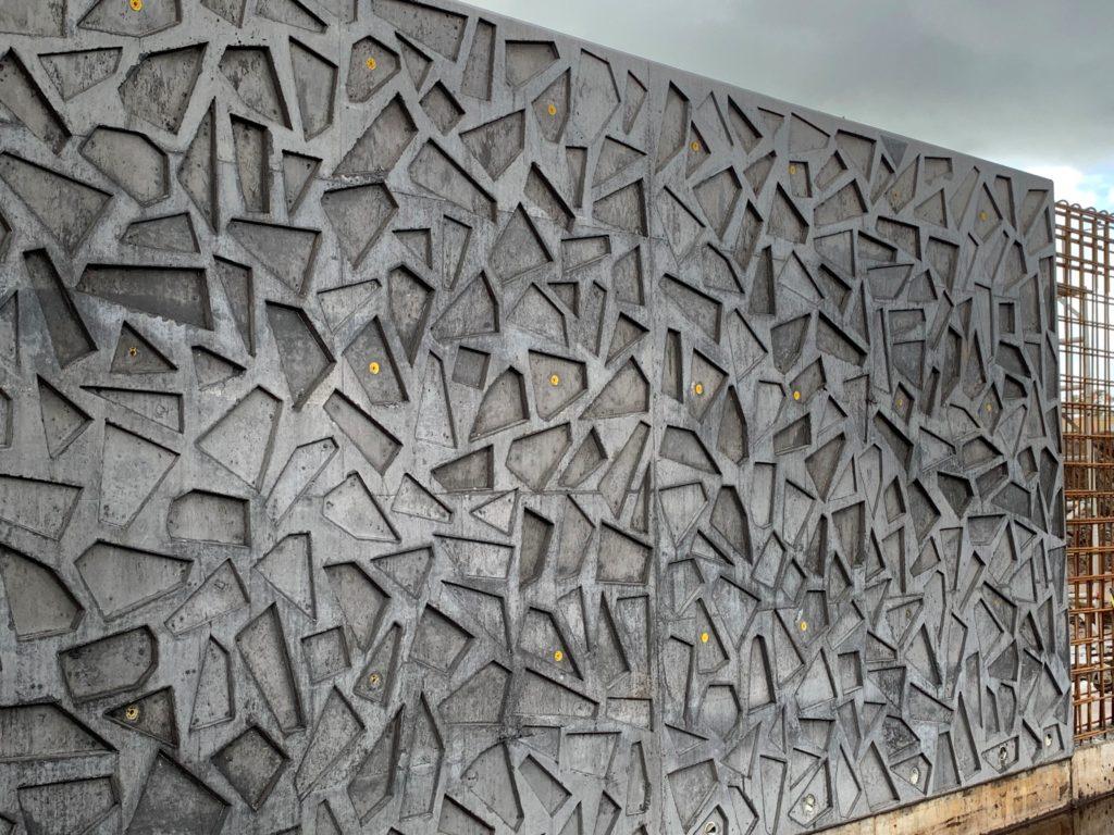 Suncentral Corso patterned concrete walls